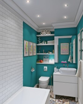 porcelain-pedestal-sink-cool-laundry-room-small-bathroom-design-with-turquoise-wall-features-and-white-tile-wall-accents-stylish-open-shelf-ideas-modern-bathroom-apartment-interior-1024x1280