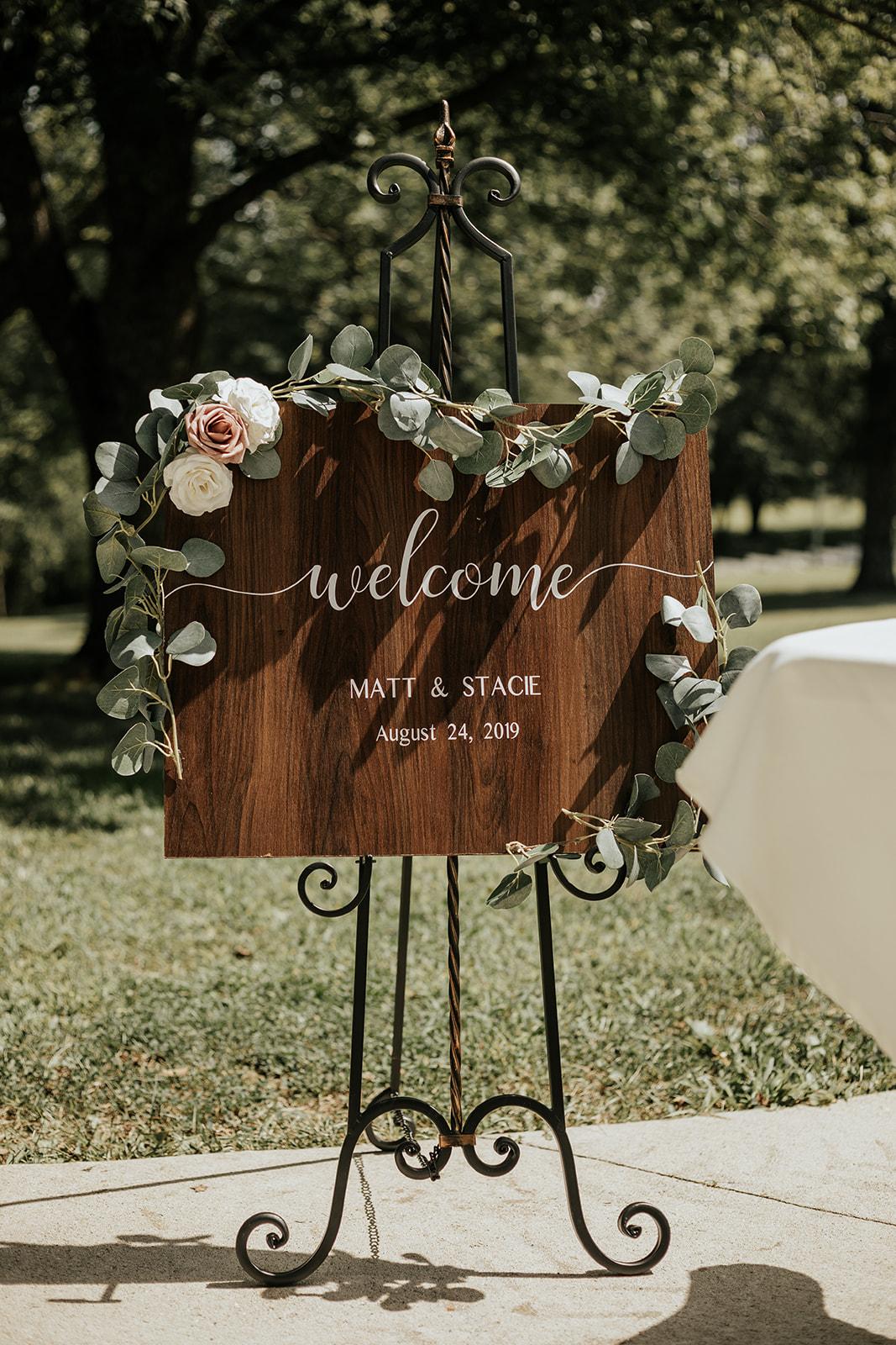 rustic boho wedding sign