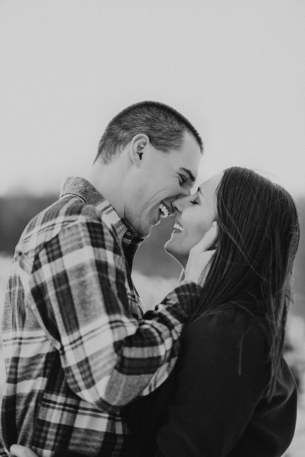 Midwest Winter Tree Farm Engagement