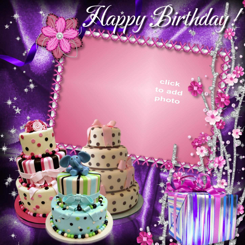 Imikimi Birthday Cake Photo Frame Online Framejdi