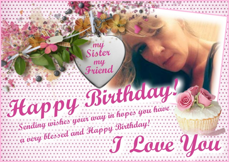 Happy Birthday Little Sister Frame – Air Media Design