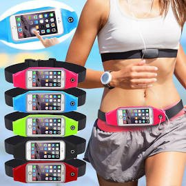 Running Belt Runner Waist Pack with Transparent Touch Screen