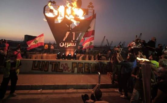 אלפים ציינו בלבנון שנה לתחילת המחאות ההמוניות נגד השלטון המושחת