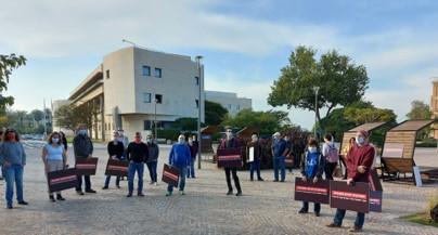עשרות עובדי מחקר באוניברסיטת תל-אביב הפגינו ודרשו הסכם קיבוצי