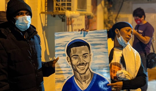 הפגינו בבת ים לציון שנתיים למותו בידי שוטר של צעיר שסבל מבעיות נפשיות