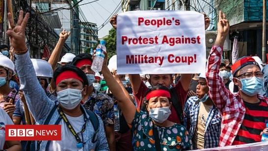100 אלף הפגינו נגד ההפיכה במיאנמר; חשש מהתערבות הצבא המצויד בנשק ישראלי