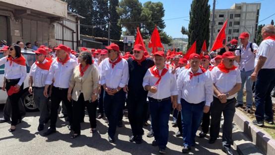 אלפים הפגינו במרכז נצרת לציון ה-1 במאי; מפגש בירושלים של פעילי ארגוני עובדים