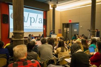 The audience at NYU and too bad I didn't bring pictures of mantu as I spoke about Uzbek food