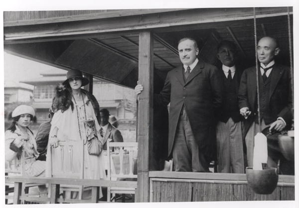 Image: French Photographer - Paul Claudel (1868-1955) in Japan, 1921 (b/w photo)