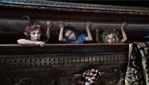 Image: Disney Enterprises, Inc. Imelda Staunton, Lesley Manville and Juno Temple in 'Maleficent'