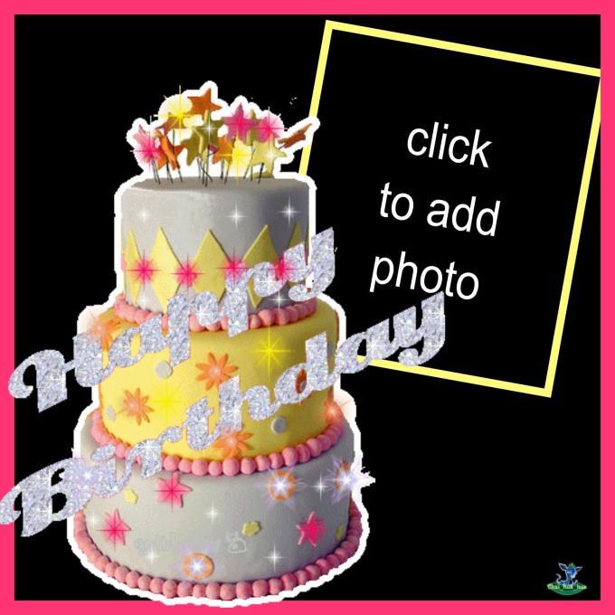 Photo Frame Birthday Cake With Name Oceanfur23 Com