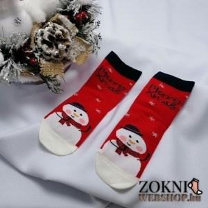 mikulásos gyerek zokni hóember