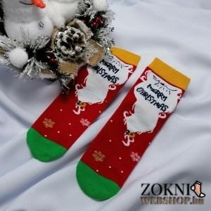 női mikulásos zokni merry cristmas