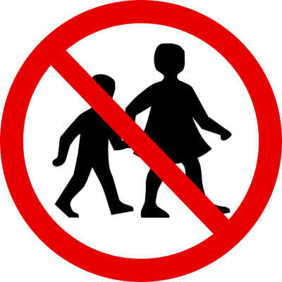 Prohibido paso niños