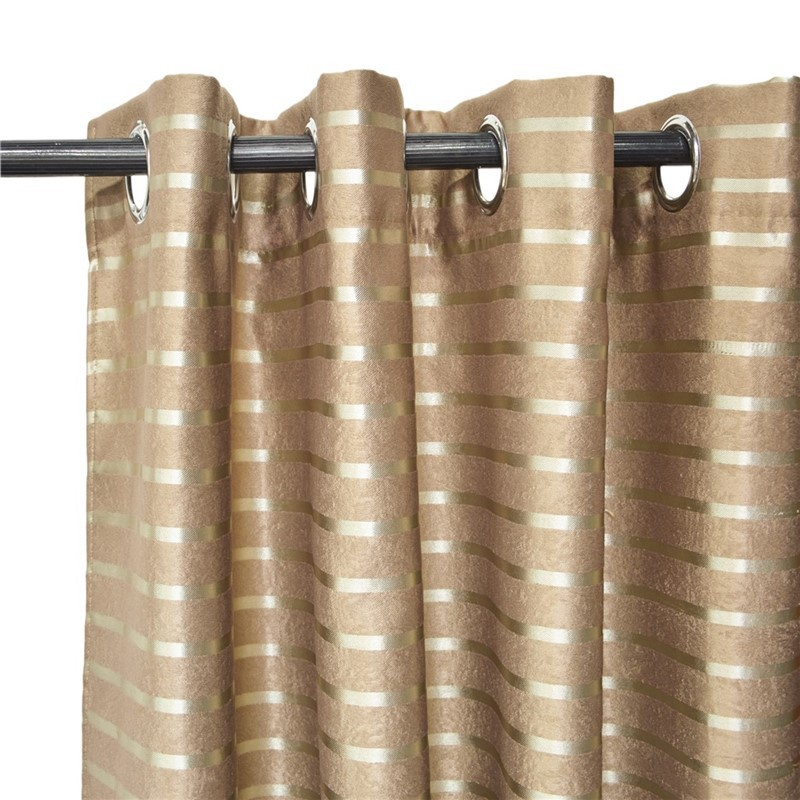 lot de 2 rideaux a œillets occultant 140x260cm rouille avec bande