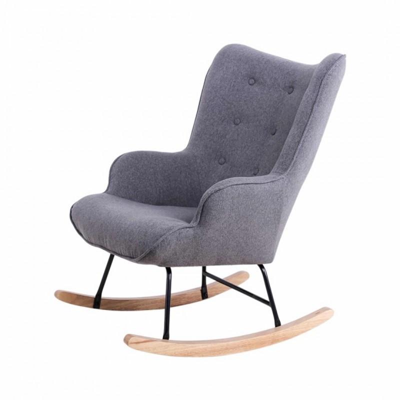 fauteuil a bascule mama couleur gris collection mama