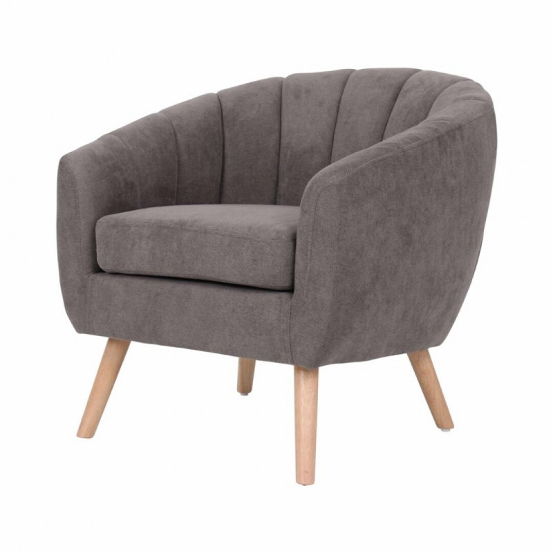 fauteuil en tissu capitonne lino couleur taupe collection lino