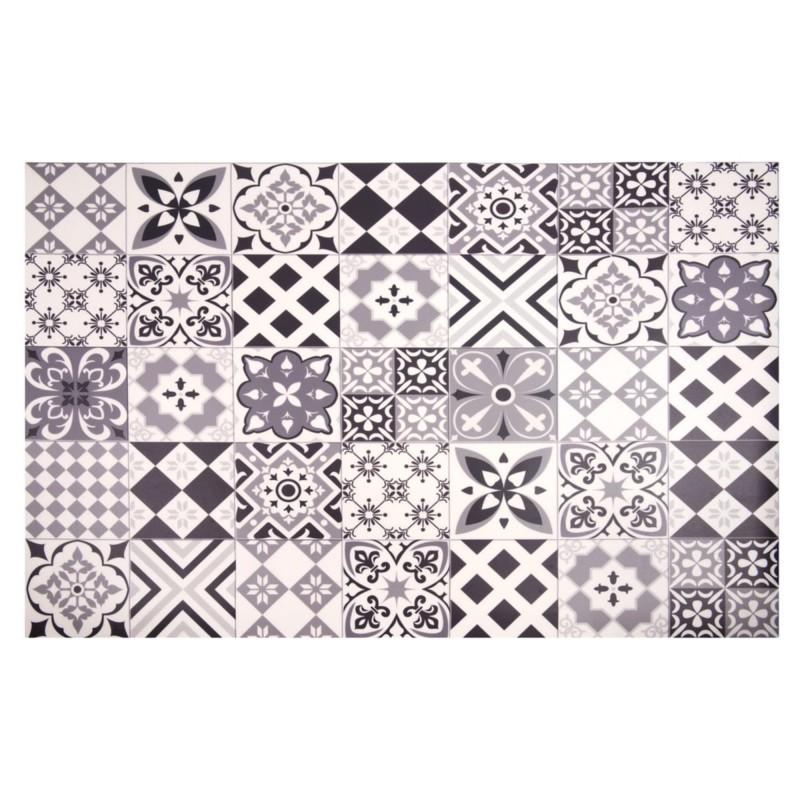 tapis en vinyle motifs carreaux de ciment 130x150