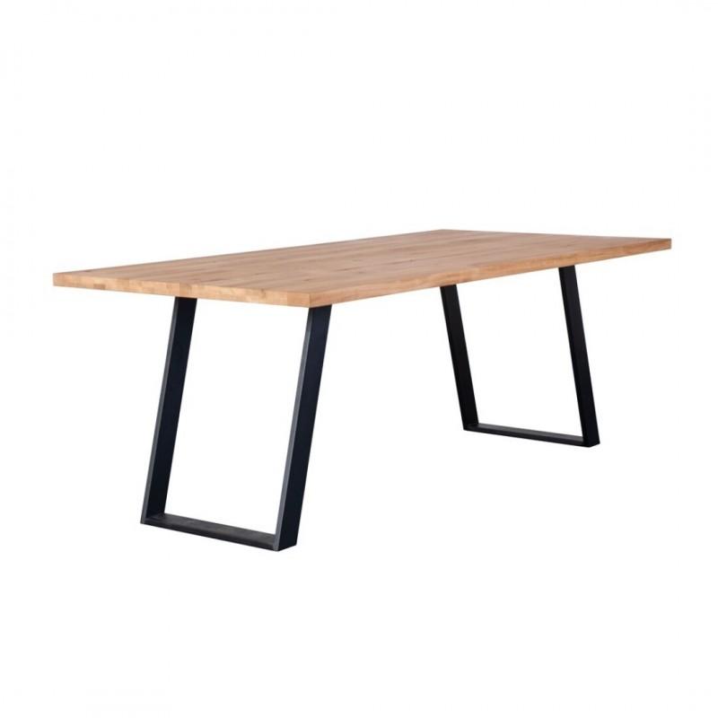 table de salle a manger 6 8 personnes bois chene massif 180cm