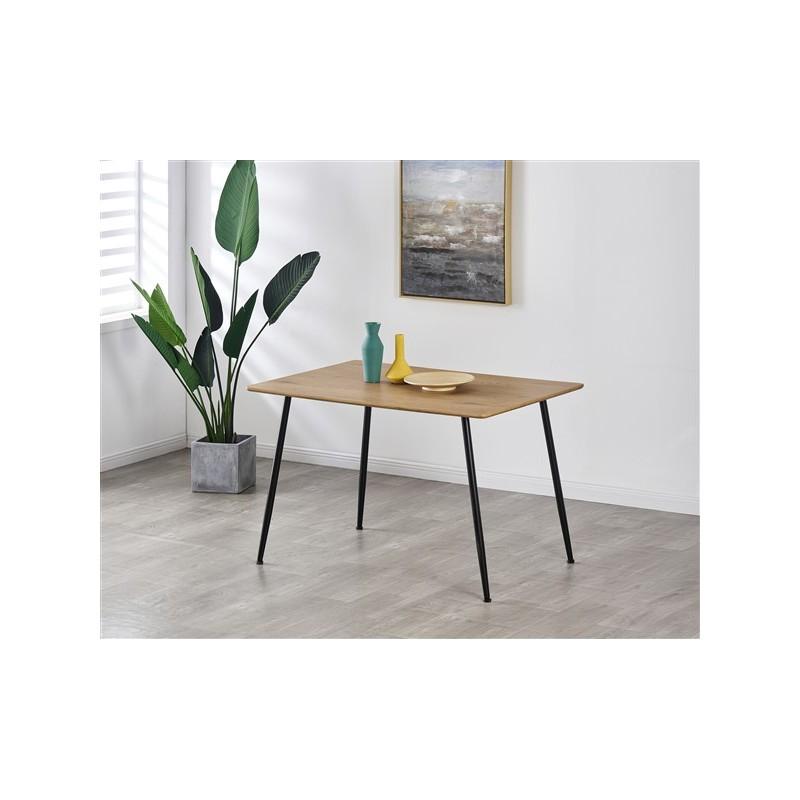 table a manger rectangulaire de cuisine 4 personnes 120x80cm
