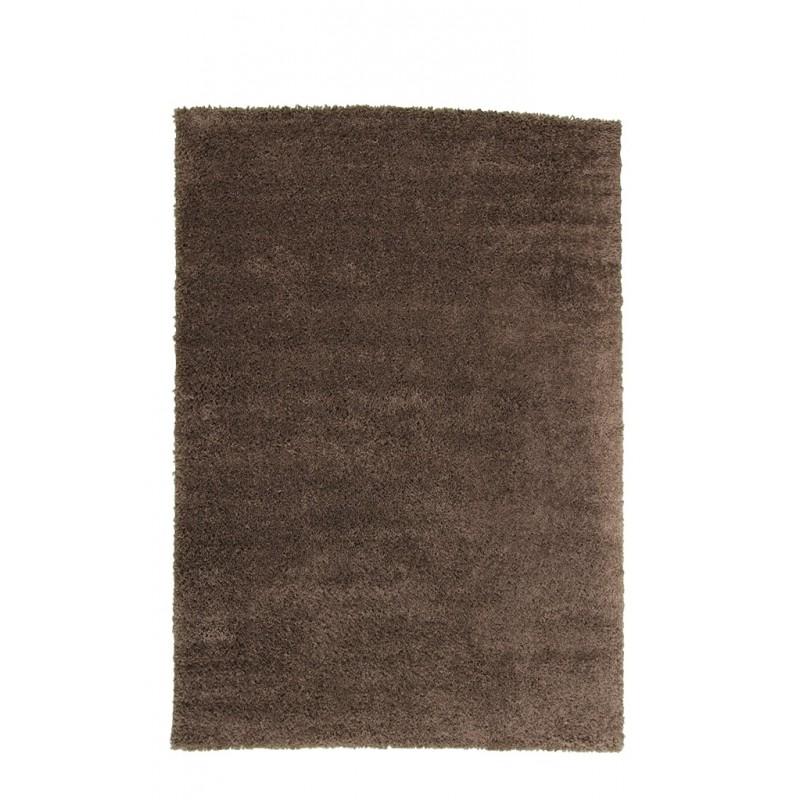 tapis shaggy poils longs moelleux 160x230cm couleur marron