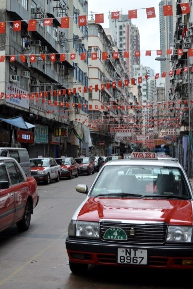 Street filled with red