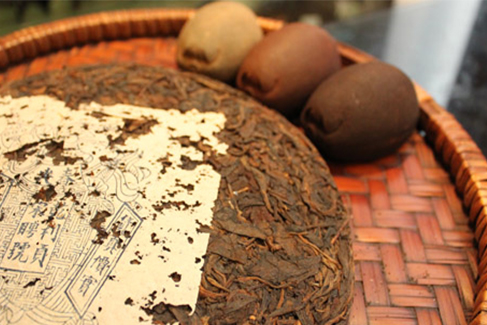Aged Pu erg tea - Photograph courtesy of Sun Sing