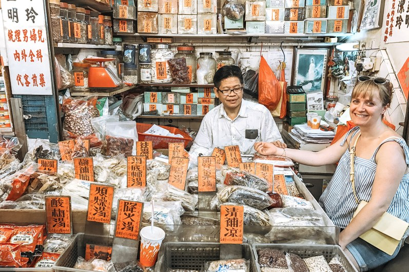 Chinese herbalist in Sham Shui Po. Image courtesy Humid with a Chance of Fishballs.