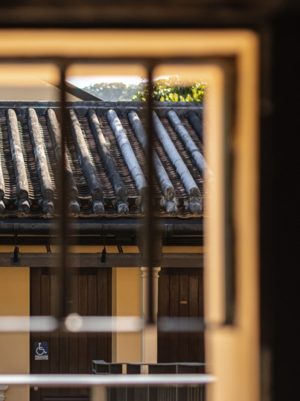 Chinese-style tile roofs
