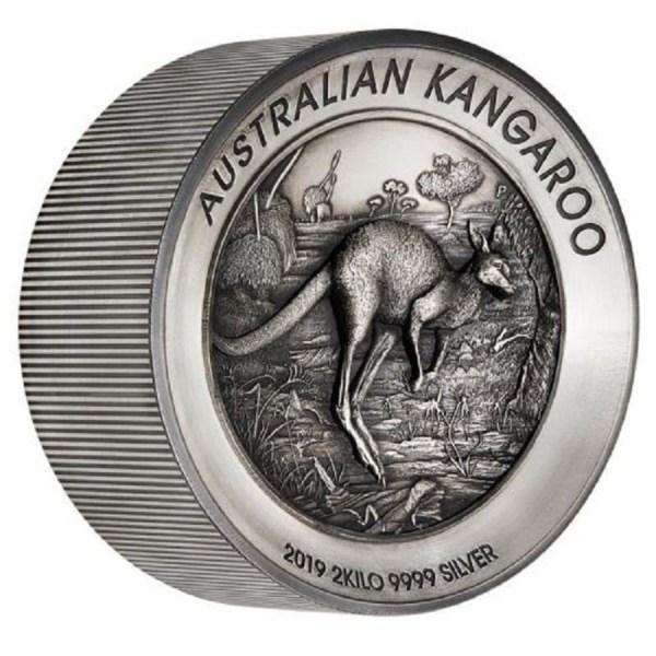 """Серебряная монета Австралии """"Кенгуру"""" 2019 г.в. (античный ..."""