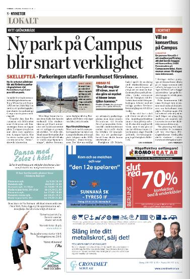 Annons danskurser, Norran