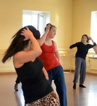 Höfterna var ett genomgående element i dansen