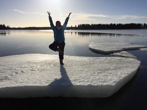 vrksasana on ice