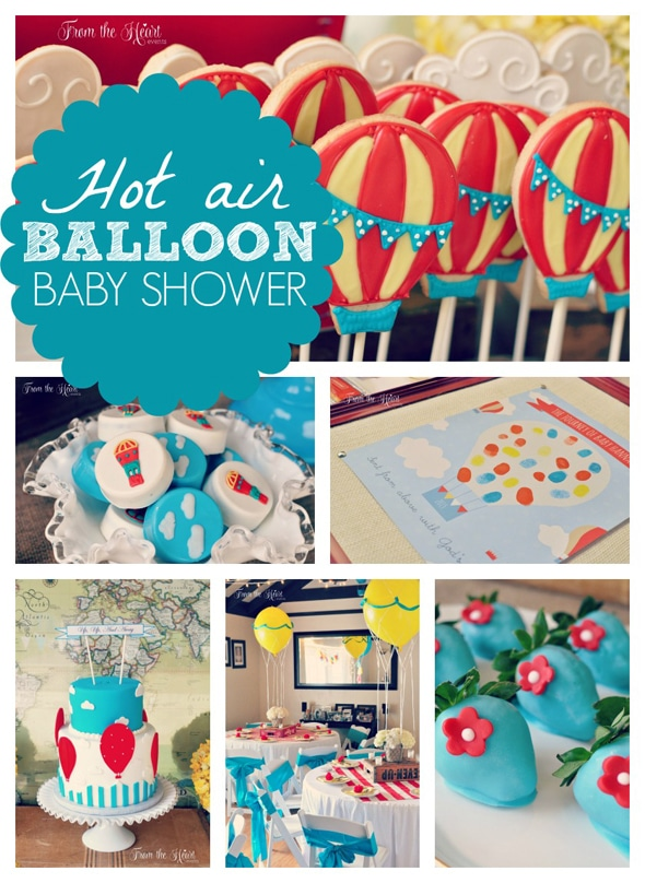 Hot Air Balloon Baby Shower Pretty My Party Party Ideas