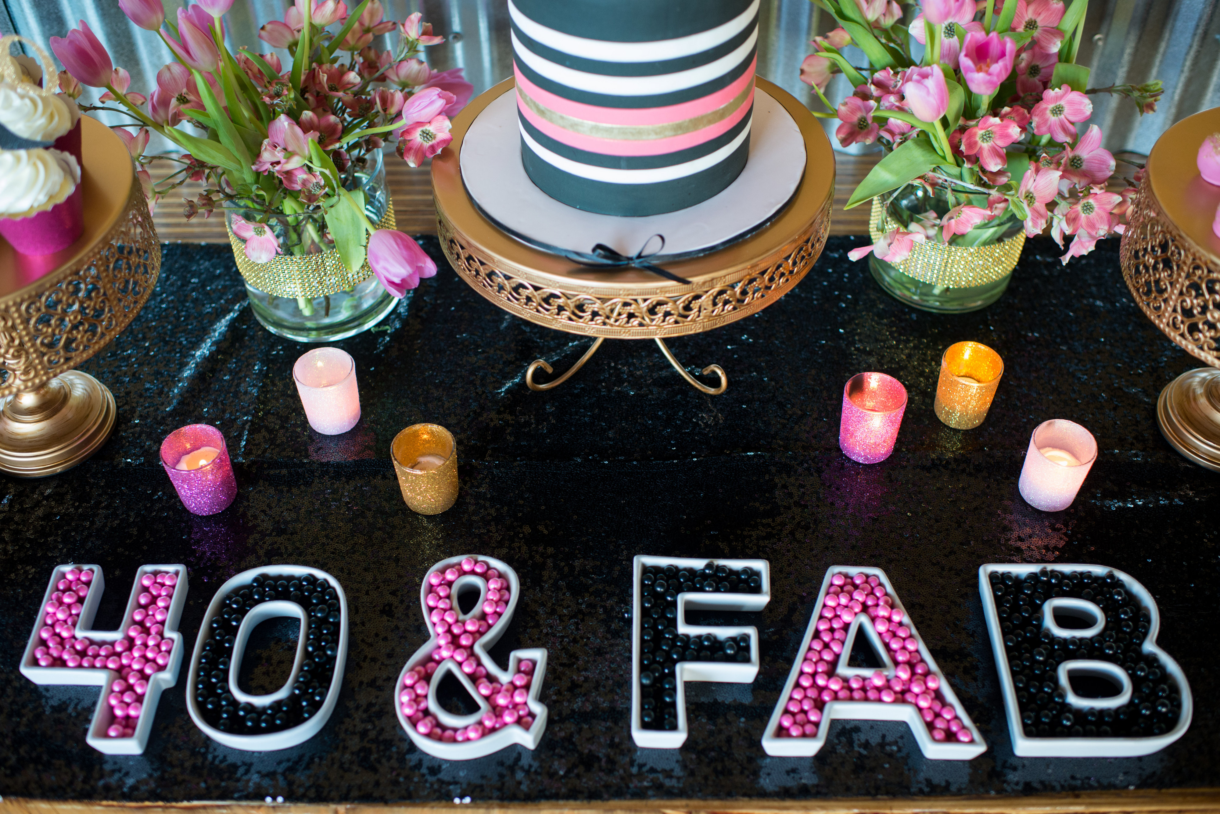 40th Table Ideas Party Decoration Birthday