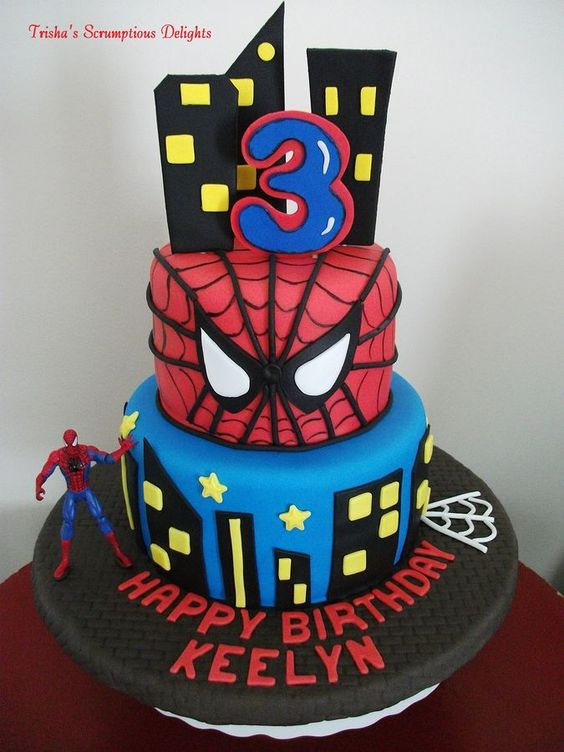 Marvelous Number 3 Spiderman Birthday Cake The Cake Boutique Funny Birthday Cards Online Inifofree Goldxyz