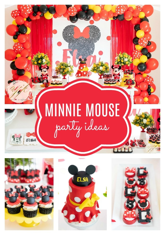 Minnie Mouse Birthday Party on Pretty My Party