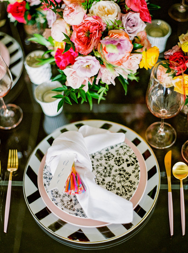 Bright Modern Bridal Shower - Pretty My Party - Party Ideas