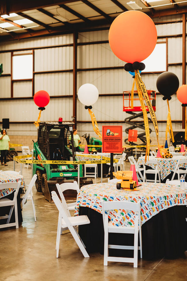 tractor themed birthday party pretty