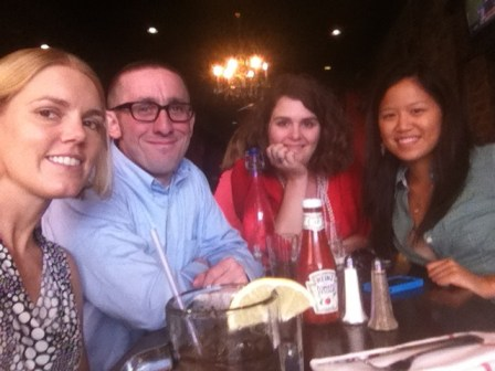 The Thunderdome Interactives team leaders circa August 2012. (L-R) Me, Tom Meagher, Julie Westfall and Yvonne Leow.