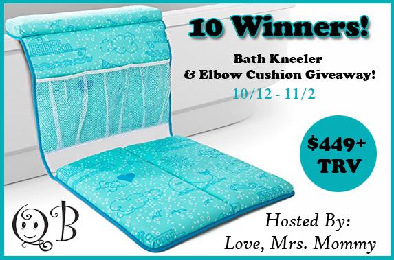 QueBebe Bath Kneeler & Elbow Cushion Giveaway!