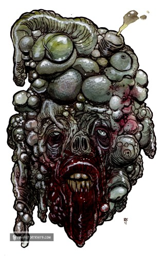 ultra mutant zombie art