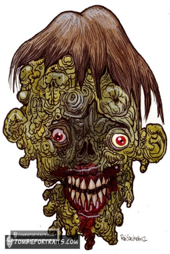 melted zombie art