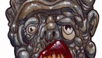 zombie art rotten and confused head
