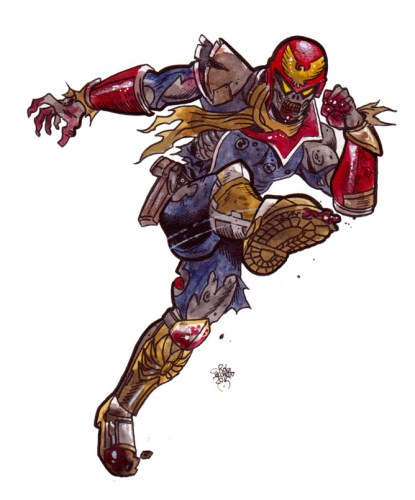 Zombie Art : Captain Falcon Video Game Characters of the Living Dead