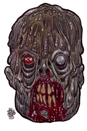 Zombie Art : Politician Zombie - Zombie Art by Rob Sacchetto