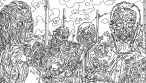 Zombie Art : Zombie Town Adult Coloring Book Art - Zombie Art by Rob Sacchetto