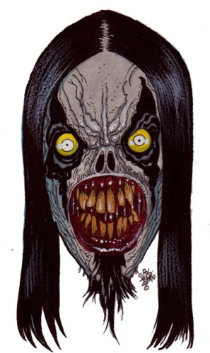 Black Metal Zombie Head Zombie Art By Rob Sacchetto