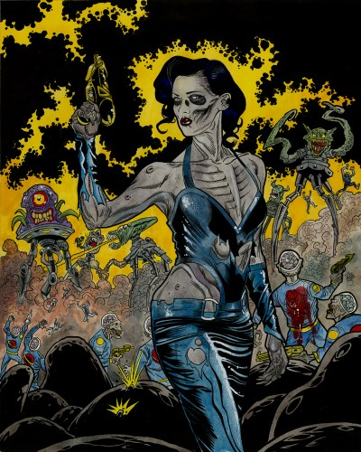 Zombie Art : Zombie Space Queen War Zombie Art by Rob Sacchetto