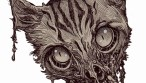 Zombie Art : Zombie Cat Head #6 Zombie Art by Rob Sacchetto